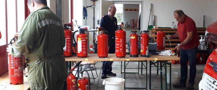Feuerlöscherüberprüfung am 25.07.2020
