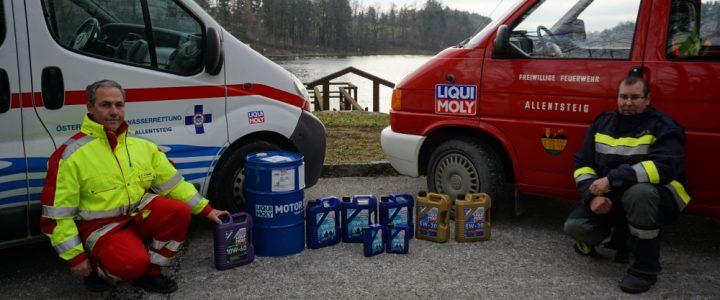 LIQUI MOLY unterstützt Einsatzorganisationen