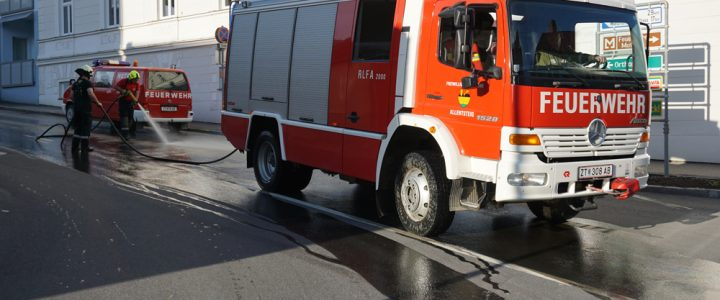Ölspur in der Spitalstraße am 15.05.2021