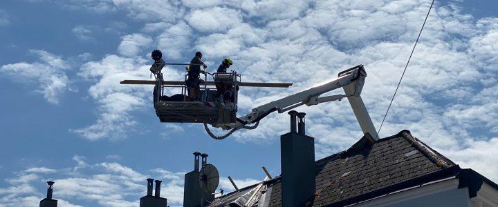 Erneut undichte Dächer nach Unwetter am 26.07.2021