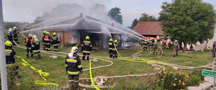 Wohnhausbrand (B3) in Bernschlag