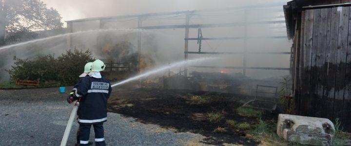 Scheunenbrand (B4) in Merkenbrechts am 17.08.2018